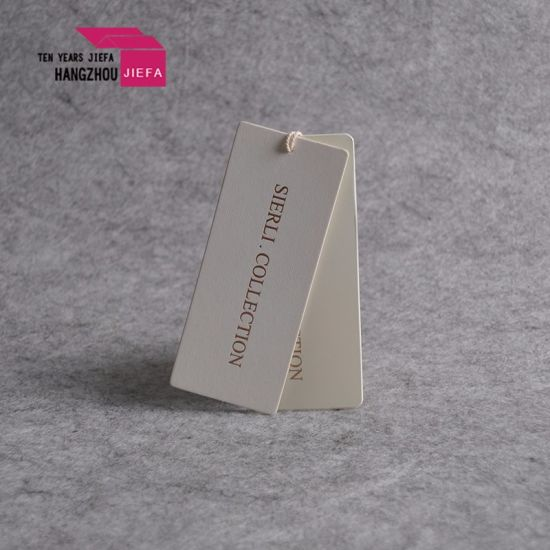 Custom Logo Printed Parchment Paper Hang Tag/Swing Tag for Colthing