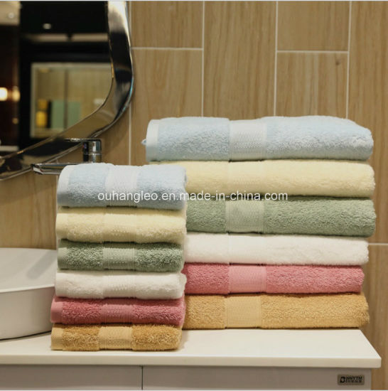 100% Cotton with Embroidery Logo Hotel Cotton Face Bath Towel pictures & photos