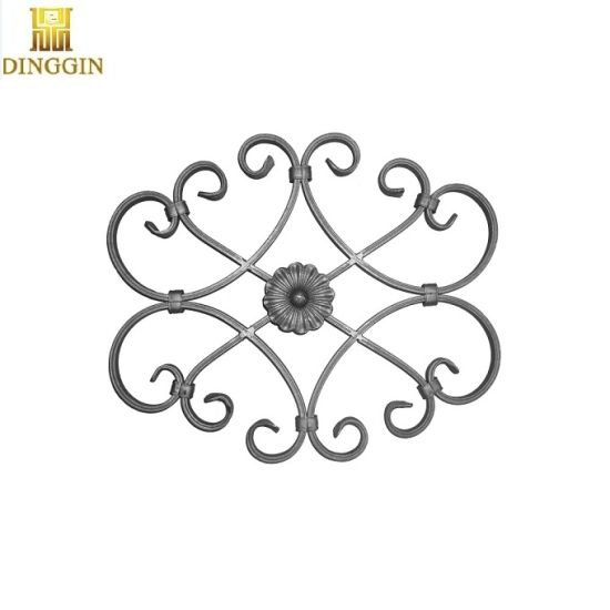 Decorative Wrought Iron Mild Steel Gate Railing Staircase Scroll Panel Feature