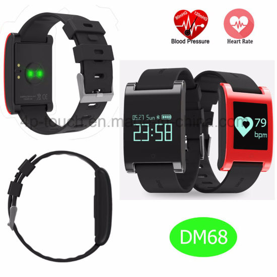 Waterproof Bluetooth Smart Silicone Bracelet with Heart Rate Monitor DM68 pictures & photos