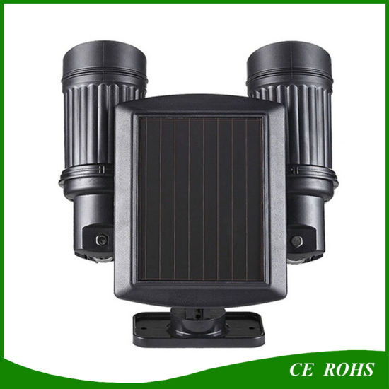 Adjustable Solar LED Spot Light Motion Sensor Trigged Wall Security Light for Driveways pictures & photos