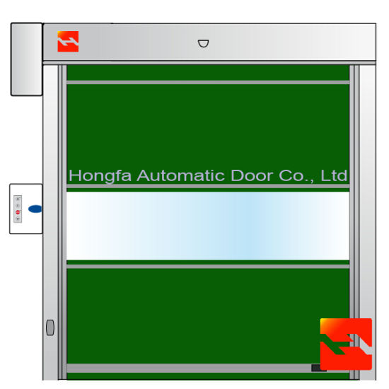 China Industrial Sectional Roller Shutter Garage Door (HF