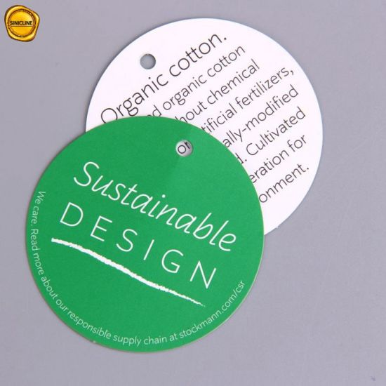 Sinicline Small Sized Colorful Printing Hang Tags with Round Corner Design
