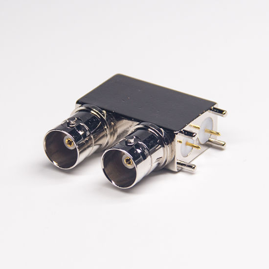 RF Coaxial Right Angle Video BNC Jack Connector