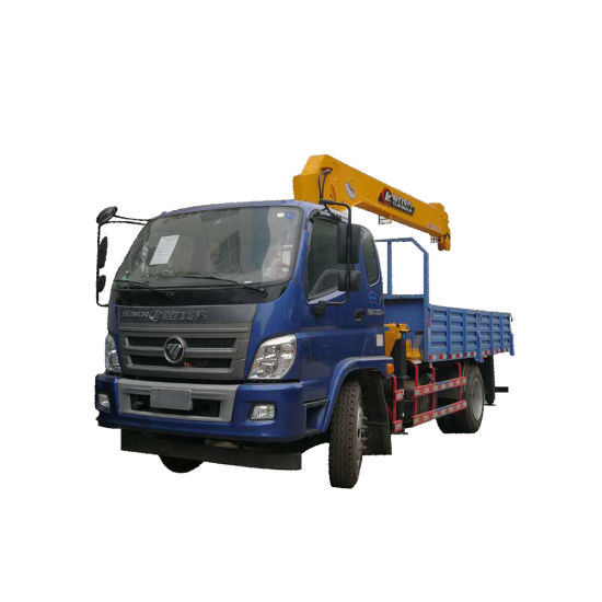 Foton Lorry Truck Mounted 5 Ton 3 Section Telescopic Boom