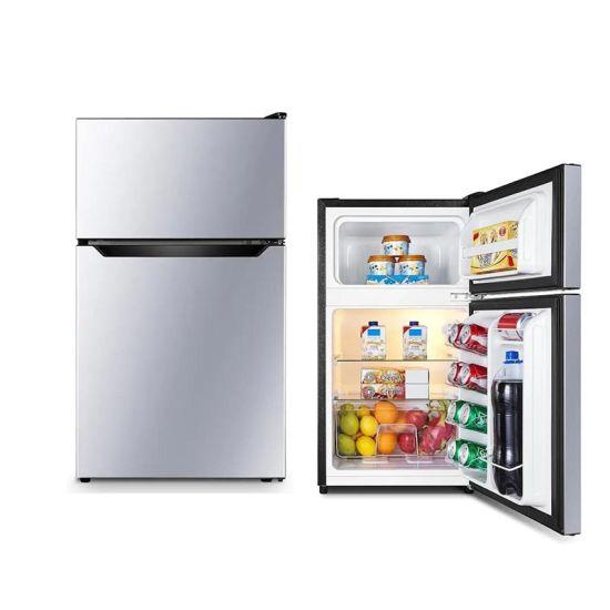 Smad 3.3cuft Hotel Home Dorm Double Door Refrigerator with Top Freezer