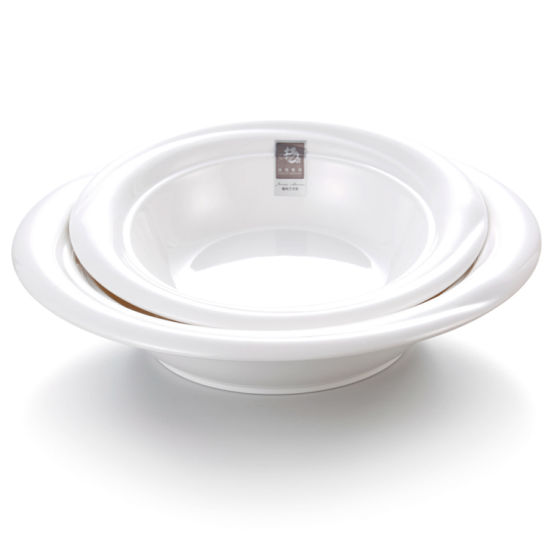 Chinese Restaurant White Large Melamine Plastic Soup Bowl