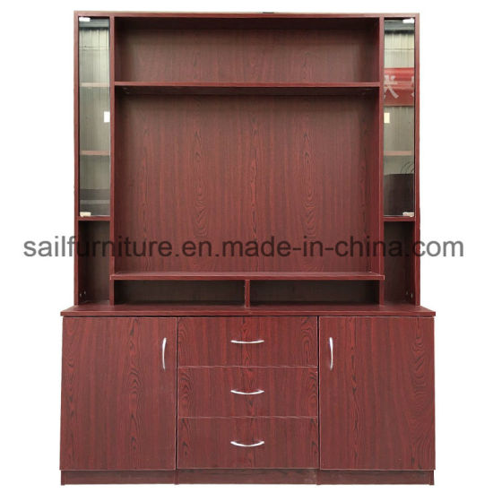 TV Stand Cabinet and Display Stand with Glass Door for Home