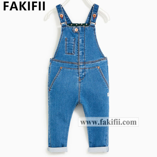 2020 New Brand Children/Kid Clothes Baby Cotton Suspender Jeans