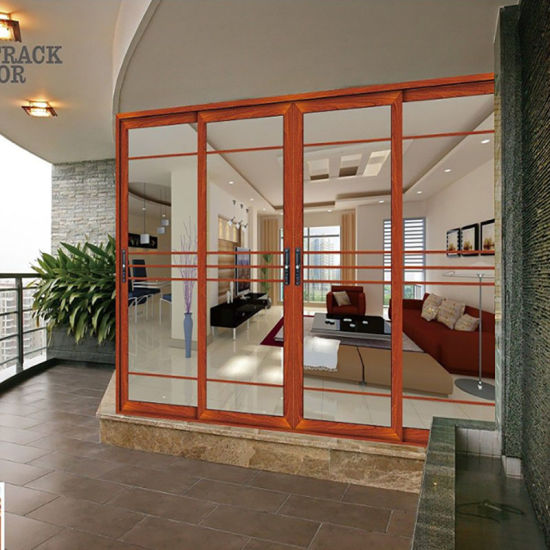China Exterior Aluminium Louver Door Balcony Wooden Door ...