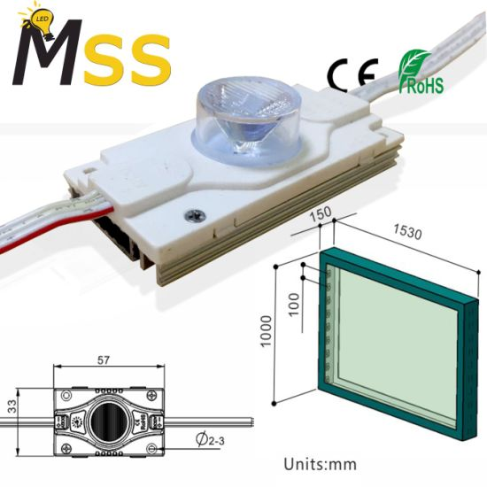 3W Ultra Bright IP67 High Power SMD LED Module for Side Light Box