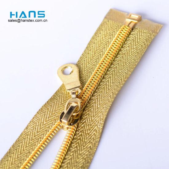 Wholesale Custom #5 #3 Fancy Metallic Gold Teeth Waterproof Open End Nylon Zipper Prices