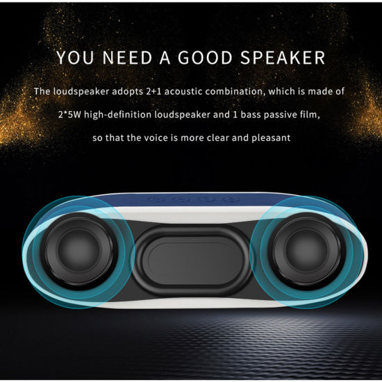 Electronic Gadget Active Sound Bar By6640 Outdoor Wireless Compact Big Bass Computer Bluetooth Speaker