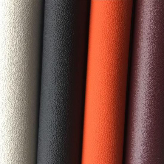 Light Cashmere Beige Leather Grain Vinyl  Upholstery Fabric