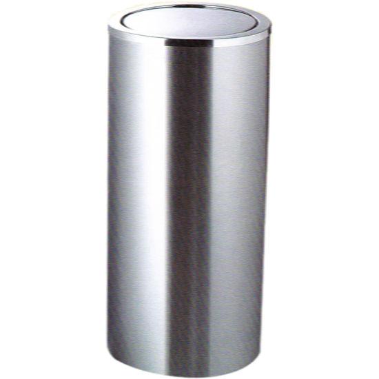 Round Shape Stainless Steel Bathroom Waste Bin