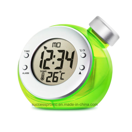 Water Powered Thermometer Clock Used for Promotion Gift pictures & photos