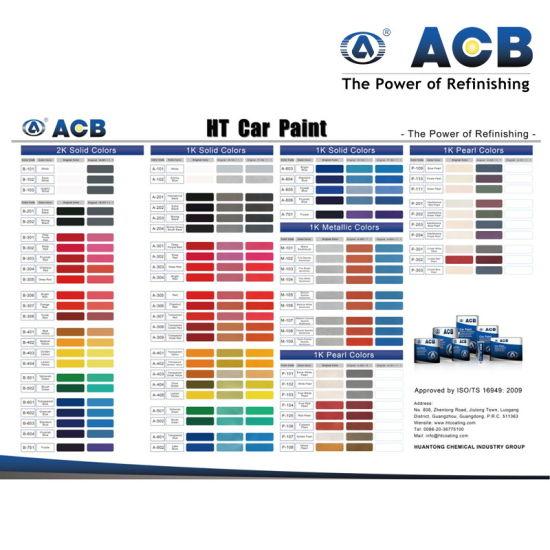 China Auto Paint Color Chart Car 1k Basecoat China 1k Basecoat 1k