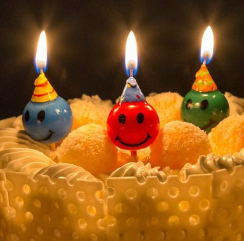 Color Smiling Face Candle Cake Decorations Birthday Cake Party Cake Decoration pictures & photos