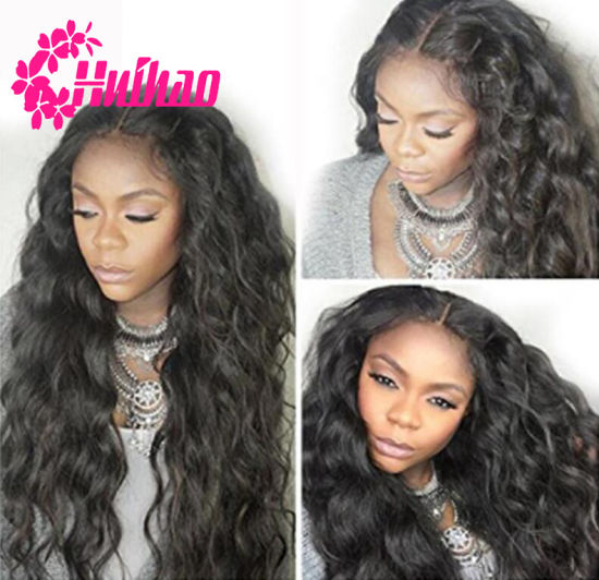 100% Virgin Hair Human Water Wave Full Lace Brazilian Virgin Wig