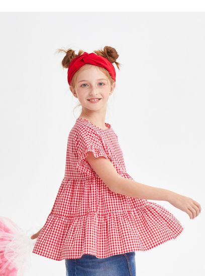 Wholesale China Factory Solid Color Baby Girls Ruffle Raglan Kids Triple Ruffle Raglans T Shirt Children's Icing Shirts
