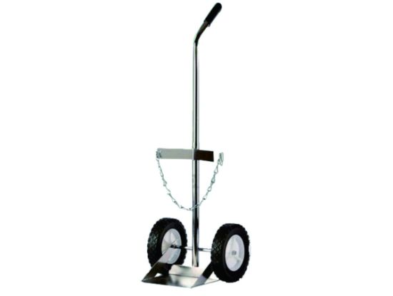 Aluminium Type Gas Oxygen Cylinder Cart Hand Trolley Two Wheel for Hospital (4M3211) pictures & photos