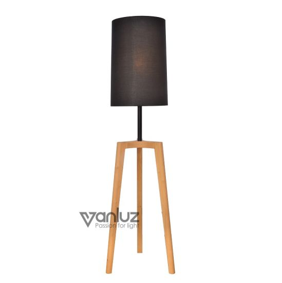 Wooded Standing Led Floor Lamps Tripod