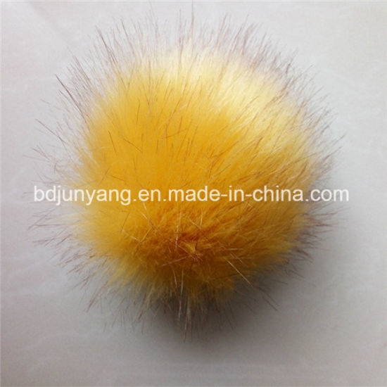 Custom Fake Fur Ball POM POM Key Ring pictures & photos