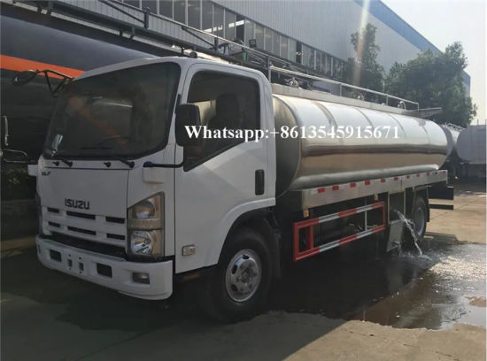 Isuzu 5000liters 9000liters Coolingdairy Fresh Milk Tanker Transport Truck for Sale