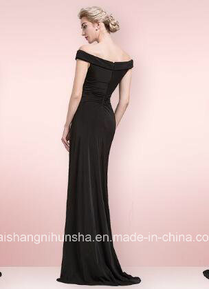Wholesale Mermaid Dress off-The-Shoulder Sexy Black Evening Special Occasion Dresses pictures & photos