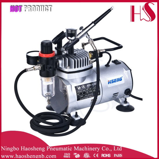 As18k-2 Quiet PRO Airbrush Compressor W/ Air Regulator & Water Trap Filter Cake Tattoo pictures & photos