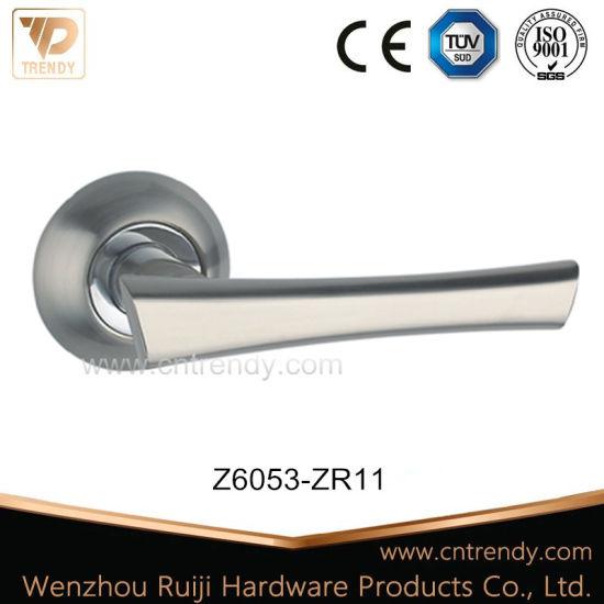 China T Bar Zinc Lock Lever Handles For Interior Door Z6053 Zr03