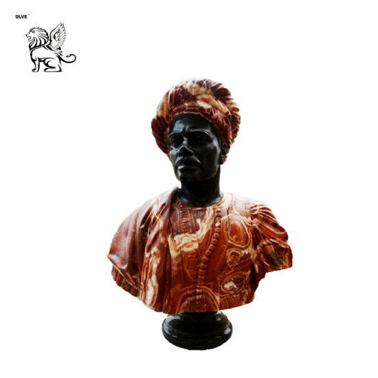 African Black Bust Marble Sculpture for Sale Msc-17
