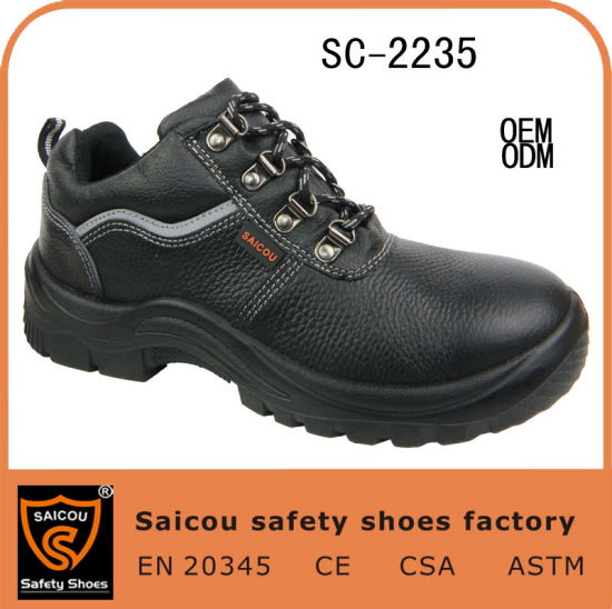 Hot Seling Lace-up Buffalo Leather Steel Toe Working Shoes Sc-2235 pictures & photos