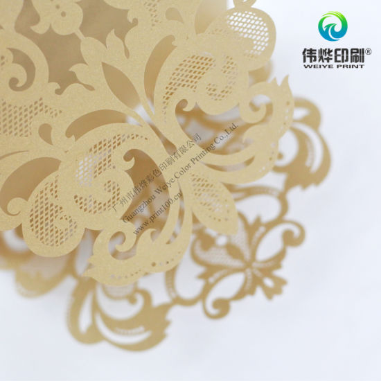 Hollow out Embossing Special Shape Greeting Card Printing pictures & photos