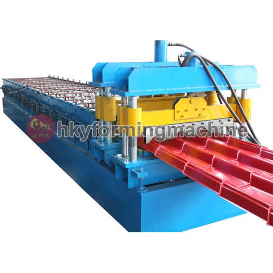Corrugated Step Tile Color Steel Tile Roll Forming Machine