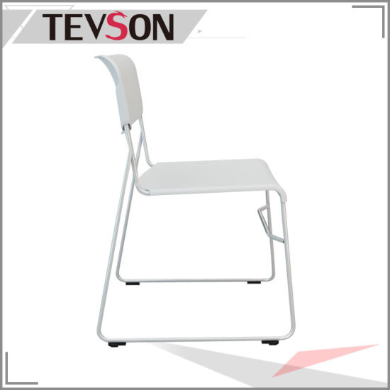 Modern Stackable Metal Frame Plastic Chair pictures & photos