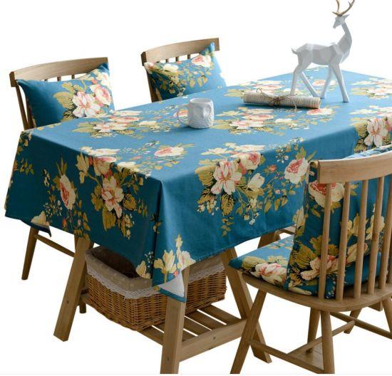 Peony Flower Rectangular Household Table Cloth