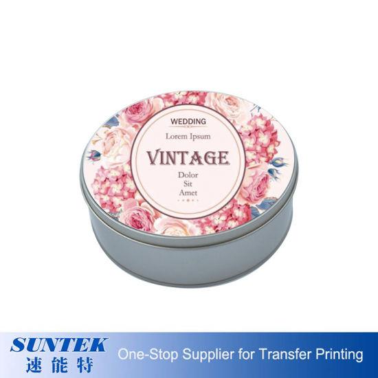 Heat Transfer Custom Printing 2D Metal Candy Tin Box Round Shape