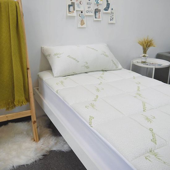 Bamboo Fiber Infused Quilted Mattress Covers / Mattress Protectors