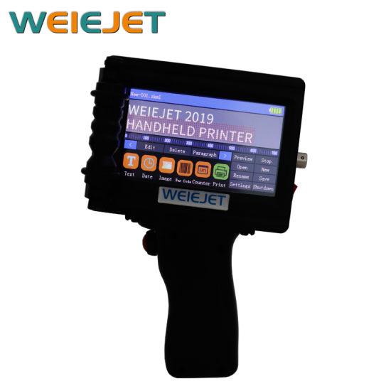 Factory Price Multi Launguage Handjet Printer Wl100 Portable Printer Date/Barcode Printer