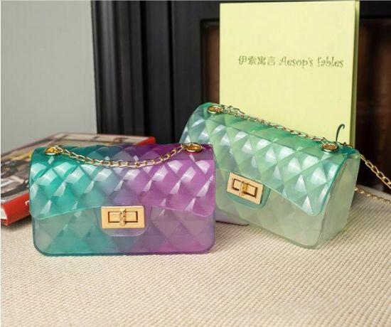 Clear Jelly Hand Bag, Handbag Fashion Lady Bag