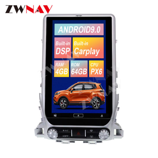 Android 9 Px6 Tesla Big Screen Car GPS Navigation DVD Player for Toyota Land Cruiser LC200 2016+ Radio Multimedia Player