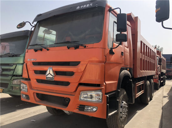 Excellent Condition Used Heavy Duty 371HP 50t Euro3 6X4 Sinotruck HOWO Dump Truck for Construction