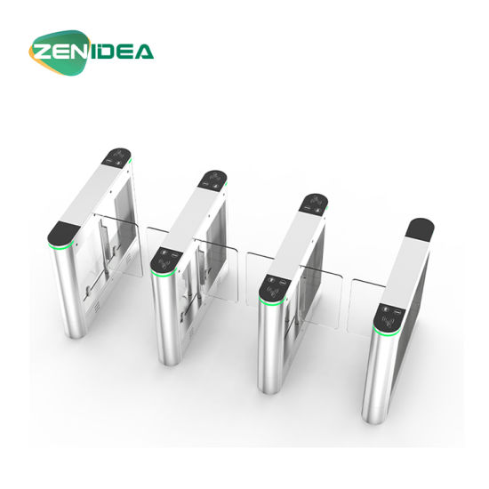 Waterproof Biometric Access Control Swinging Glass Barrier Turnstile Gate