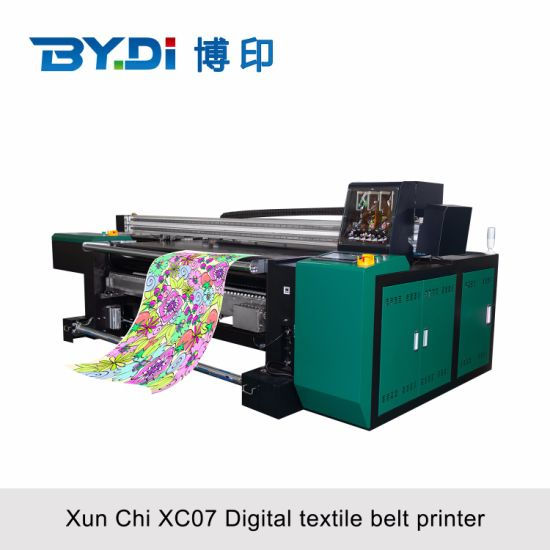 Digital Inkject Textile Printer with 8 Epson Print Head (XC07) for Large Format Polyester Home Textile