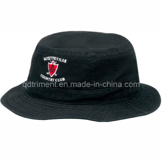 88241c86bf1eb Top Quality Washed Embroidery Leisure Fisherman Bucket Hat Cap (TRBH002B)  pictures   photos