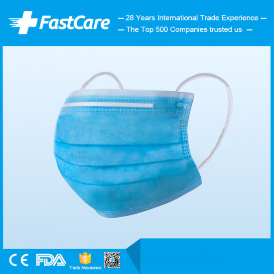 50PCS/ Pack Earloop 3ply Disposable Surgical Mask Respirator Face Mask