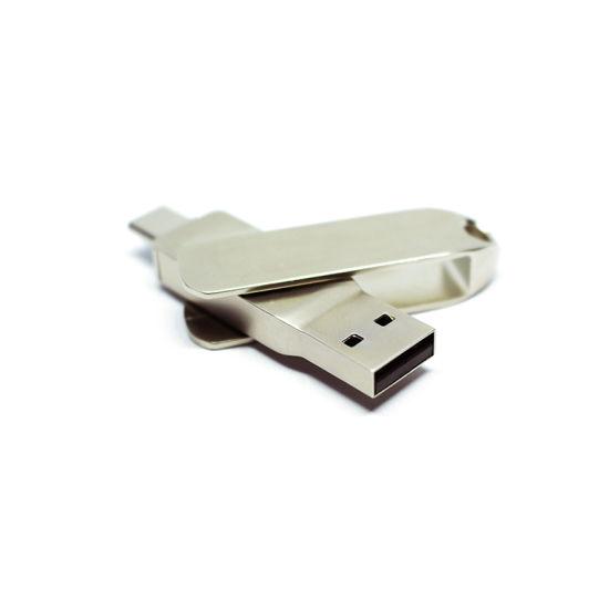 Factory Supply Metal OTG Type C USB 3.0 Flash Drive Swivel Pen Drive Type C 8GB 16GB 32GB 64GB Pendrive (TC015)