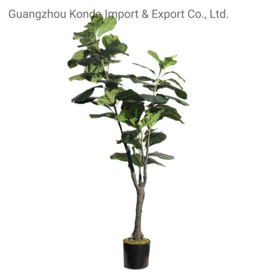 Artificial Ficus Bonsai Trees Plastic Faux Fiddle Leaf Fig Plants