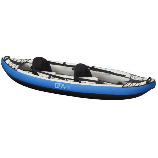 Dfaspo China High Quality Inflatable Drop Stitch Fishing Kayak 2 Person with Paddle